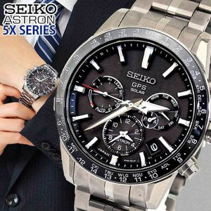 ノベルティ付 アストロン SEIKO セイコー ソーラーGPS衛星電波 SBXC003 メンズ 腕時計 国内正規品 黒 ブラック チタン メタル
