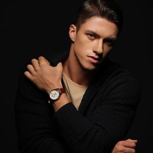 先着300円OFFクーポン SCORPION スコーピオン SP3326 ムーンフェイズ メンズ 腕時計 正規品 黒 ブラック 白 ホワイト 銀 シルバー 革ベルト レザー メタル|tokeiten|03