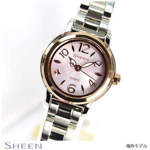 カシオ シーン CASIO SHEEN 海外モデル ソーラー レディース 腕時計 SHE-4502SBG-4A|tokeiten