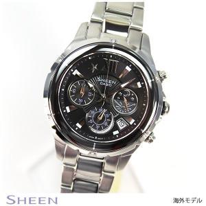 カシオ シーン CASIO SHEEN 海外モデル クロノグラフ レディース 腕時計 SHE-5512D-1A|tokeiten