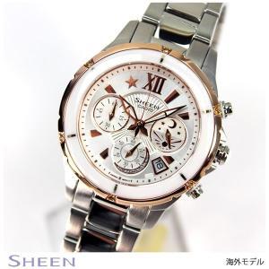 カシオ シーン CASIO SHEEN 海外モデル クロノグラフ レディース 腕時計 SHE-5512SG-7A|tokeiten