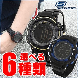 Skechers スケッチャーズ 海外モデル 選べる6種類 デジタル メンズ 男性用 腕時計 ウォッチ 黒 ブラック 白 ホワイト 赤 レッド 青 ブルー|tokeiten
