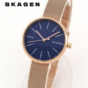SKAGEN スカーゲン SKW2593 シグネチャー レディース 腕時計 海外モデル ネイビー ピンクゴールド ローズゴールド|tokeiten