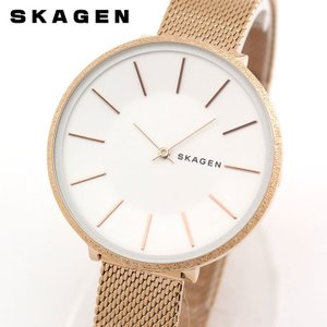 SKAGEN スカーゲン SKW2726 KAROLINA レディース 腕時計 白 ホワイト ピンクゴールド  ローズゴールド メタル|tokeiten