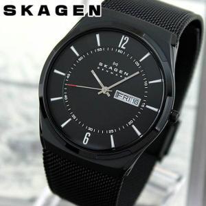 SKAGEN スカーゲン SKW6006 海外モデル アナログ メンズ 腕時計 ウォッチ 黒 ブラック チタン メタル バンド|tokeiten