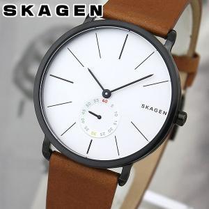 ポイント最大27倍 SKAGEN スカーゲン SKW6216 海外モデル メンズ 腕時計 革バンド レザー シルバー 茶 ブラウン|tokeiten