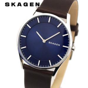 SKAGEN スカーゲン SKW6237 HOLST ホルスト アナログ メンズ 腕時計 海外モデル 青 ブルー ネイビー 茶 ブラウン 革ベルト レザー|tokeiten