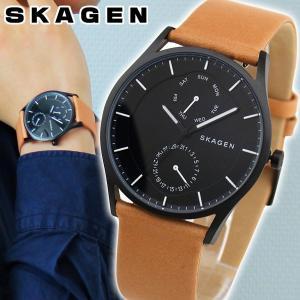 SKAGEN スカーゲン SKW6265 HOLST ホルスト アナログ メンズ 腕時計 海外モデル 黒 ブラック 茶 ブラウン 革ベルト レザー|tokeiten
