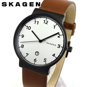 SKAGEN スカーゲン SKW6297 ANCHER アンカー メンズ 腕時計 海外モデル 黒 ブラック 茶 ブラウン 銀 シルバー 革ベルト レザー|tokeiten