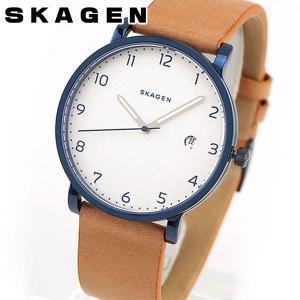 SKAGEN スカーゲン SKW6325 海外モデル HAGEN ハーゲン アナログ メンズ 腕時計 ウォッチ 茶 ブラウン 銀 シルバー 革バンド レザー tokeiten