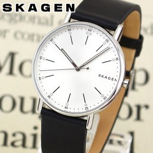 SKAGEN スカーゲン Signatur シグネチャー SKW6353 メンズ 腕時計 海外モデル 黒 ブラック 銀 シルバー 革ベルト レザー|tokeiten