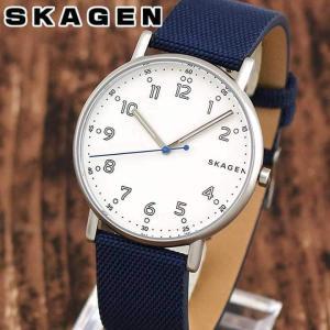 SKAGEN スカーゲン SKW6356 SIGNATUR シグネチャー メンズ 腕時計 海外モデル 白 ホワイト 青 ネイビー 革ベルト レザー ナイロン|tokeiten