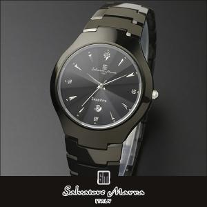 Salvatore Marra サルバトーレマーラ SM17101 アナログ メンズ 腕時計 ウォッチ 黒 ブラック カジュアル ビジネス スーツ 国内正規品 tokeiten