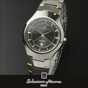 Salvatore Marra サルバトーレマーラ クオーツ sm17102 アナログ メンズ 腕時計 ウォッチ 黒 ブラック 銀 シルバー カジュアル ビジネス スーツ 国内正規品 tokeiten