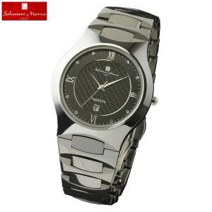 ポイント最大26倍 Salvatore Marra サルバトーレマーラ SM17103 アナログ メンズ 腕時計 ウォッチ 黒 ブラック 銀 シルバー 国内正規品 tokeiten
