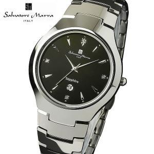 ポイント最大26倍 Salvatore Marra サルバトーレマーラ SM17104 アナログ メンズ 腕時計 ウォッチ 黒 ブラック 銀 シルバー ビジネス 国内正規品|tokeiten