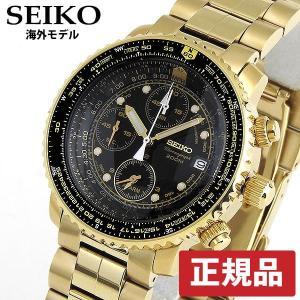 クロノグラフ セイコー 逆輸入 SEIKO SNA414PC SEIKO ゴールド 海外モデル|tokeiten