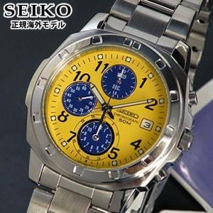 セイコー 逆輸入 SND409P1 イエロー SEIKO 正規海外モデルクロノグラフ メンズウォッチ メンズ 腕時計|tokeiten
