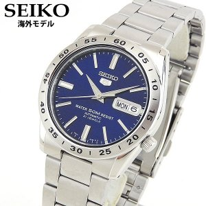 SEIKO セイコー 逆輸入 海外モデル 機械式 メカニカル 自動巻き SNKD99K1 アナログ メンズ 男性用 腕時計 ウォッチ 青 ブルー 銀 シルバー メタル バンド tokeiten