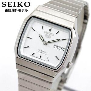 SEIKO セイコー 機械式 メカニカル 自動巻き SNXK95JC SNXK95J1 正規海外モデル ファイブスポーツ アナログ メンズ 腕時計 ウォッチ 銀 シルバー メタル バンド|tokeiten