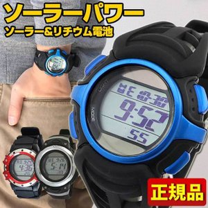 CREPHA クレファー SOLAR-FDM-SELECT 国内正規品 選べる6種類 デジタル メンズ 男性用 腕時計 ウォッチ 黒 ブラック 5気圧防水 ソーラーパワー tokeiten