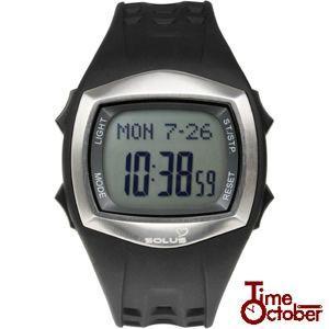 ポイント最大35倍 スポーツ ランニング 腕時計 メンズ レディース ソーラス 01-100-01 ブラック|tokeiten