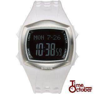 ポイント最大35倍 スポーツ ランニング 腕時計 メンズ レディース ソーラス 01-100-02 ホワイト|tokeiten