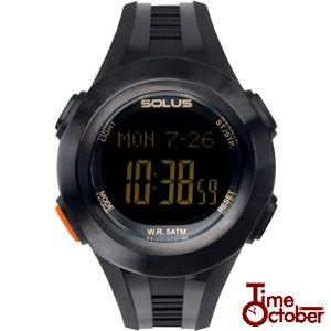 ポイント最大35倍 スポーツ ランニング 腕時計 メンズ レディース ソーラスSOLUS 01-101-001 黒 ブラック|tokeiten