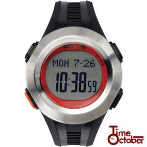 ポイント最大35倍 スポーツ ランニング 腕時計 メンズ レディース ソーラス SOLUS 01-101-002 黒 ブラック×レッド|tokeiten