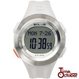 ポイント最大35倍 スポーツ ランニング 腕時計 メンズ レディース ソーラス SOLUS 01-101-003 白 ホワイト|tokeiten