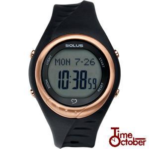 ポイント最大35倍 スポーツ ランニング 腕時計 メンズ レディース ソーラス SOLUS 01-300-01 黒 ブラック|tokeiten