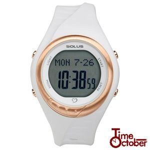 ポイント最大35倍 スポーツ ランニング 腕時計 メンズ レディース ソーラス SOLUS 01-300-02 白 ホワイト|tokeiten