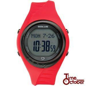 ポイント最大35倍 スポーツ ランニング 腕時計 メンズ レディース ソーラス SOLUS 01-300-04 赤 レッド|tokeiten