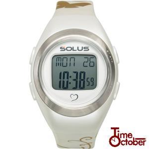 ポイント最大35倍 スポーツ ランニング 腕時計 メンズ レディース ソーラス SOLUS 01-800-04 パールホワイト|tokeiten
