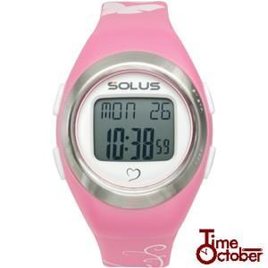 ポイント最大35倍 スポーツ ランニング 腕時計 メンズ レディース ソーラス SOLUS 01-800-07 ピンク|tokeiten