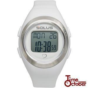 ポイント最大35倍 スポーツ ランニング 腕時計 メンズ レディース ソーラス SOLUS 01-800-202 ホワイト×無地|tokeiten