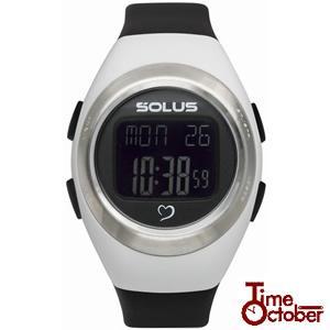 ポイント最大35倍 スポーツ ランニング 腕時計 メンズ レディース ソーラス SOLUS 01-800-205 ホワイト×ブラック|tokeiten