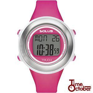 ポイント最大35倍 スポーツ ランニング 腕時計 メンズ レディース ソーラス SOLUS 01-850-004 ピンク|tokeiten