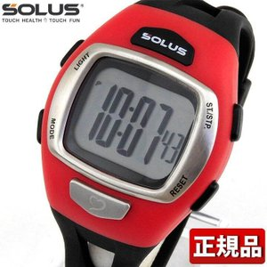 SOLUS ソーラス 01-930-007 国内正規品 デジタル メンズ 腕時計 黒 ブラック 赤 レッド ウレタン バンド ランニング スポーツ|tokeiten