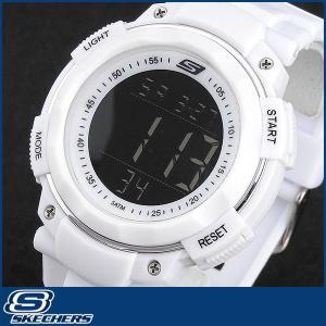 Skechers スケッチャーズ SR1020 海外モデル メンズ 男性用 腕時計 ウォッチ 多機能 白 ホワイト|tokeiten