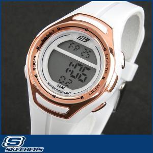 Skechers スケッチャーズ SR2011 海外モデル レディース 腕時計 ウォッチ ウレタン バンド ランニング スポーツ デジタル白 ホワイト ゴールド|tokeiten