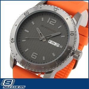 Skechers スケッチャーズ SR5001 海外モデル メンズ 男性用 腕時計 ウォッチ 黒 ブラック オレンジ カジュアル|tokeiten