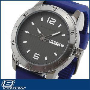 Skechers スケッチャーズ SR5002 海外モデル メンズ 男性用 腕時計 ウォッチ 黒 ブラック 青 ブルー カジュアル|tokeiten