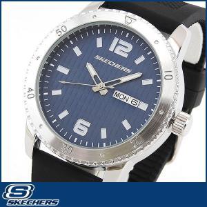 Skechers スケッチャーズ SR5003 海外モデル メンズ 男性用 腕時計 ウォッチ 黒 ブラック 青 ブルー カジュアル|tokeiten