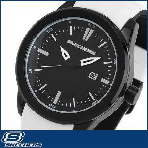 スケッチャーズ SKECHERS SR5005 海外モデル メンズ 男性用 腕時計 ウォッチ シリコン ラバー バンド クオーツ アナログ 黒 ブラック 白 ホワイト|tokeiten