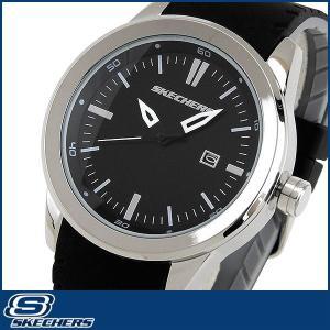 スケッチャーズ SKECHERS SR5007 海外モデル メンズ 男性用 腕時計 シリコン ラバー バンド クオーツ アナログ 黒 ブラック|tokeiten