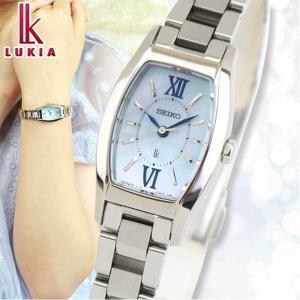 ノベルティ付 セイコー ルキア 腕時計 SEIKO LUKIA ソーラー レディース レディトノー SSVR129 国内正規品 綾瀬はるか ウォッチ ブルー シルバー メタル|tokeiten