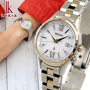 ポイント最大7倍 セイコー ルキア ソーラー電波 スタンダードコレクション レディース 時計 腕時計 レディゴールド 白 SSVV042 国内正規品|腕時計 メンズ アクセの加藤時計店