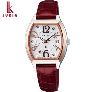セイコー ルキア 腕時計 SEIKO LUKIA ソーラー電波 電波 ソーラー レディース レディトノー クロコダイル SSVW094 国内正規品 綾瀬はるか|tokeiten
