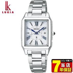 セイコー ルキア 腕時計 SEIKO LUKIA ソーラー電波時計 電波 ソーラー レディース スクエア SSVW097 国内正規品 綾瀬はるか ホワイト ブルー|tokeiten